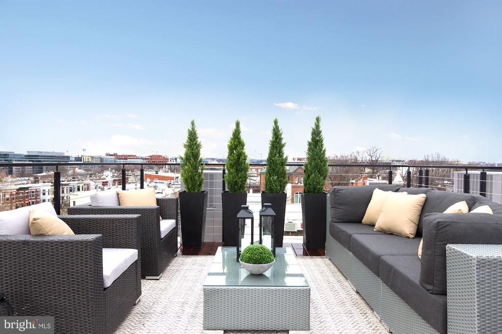 Rooftop deck - 426 C STREET NE, WASHINGTON
