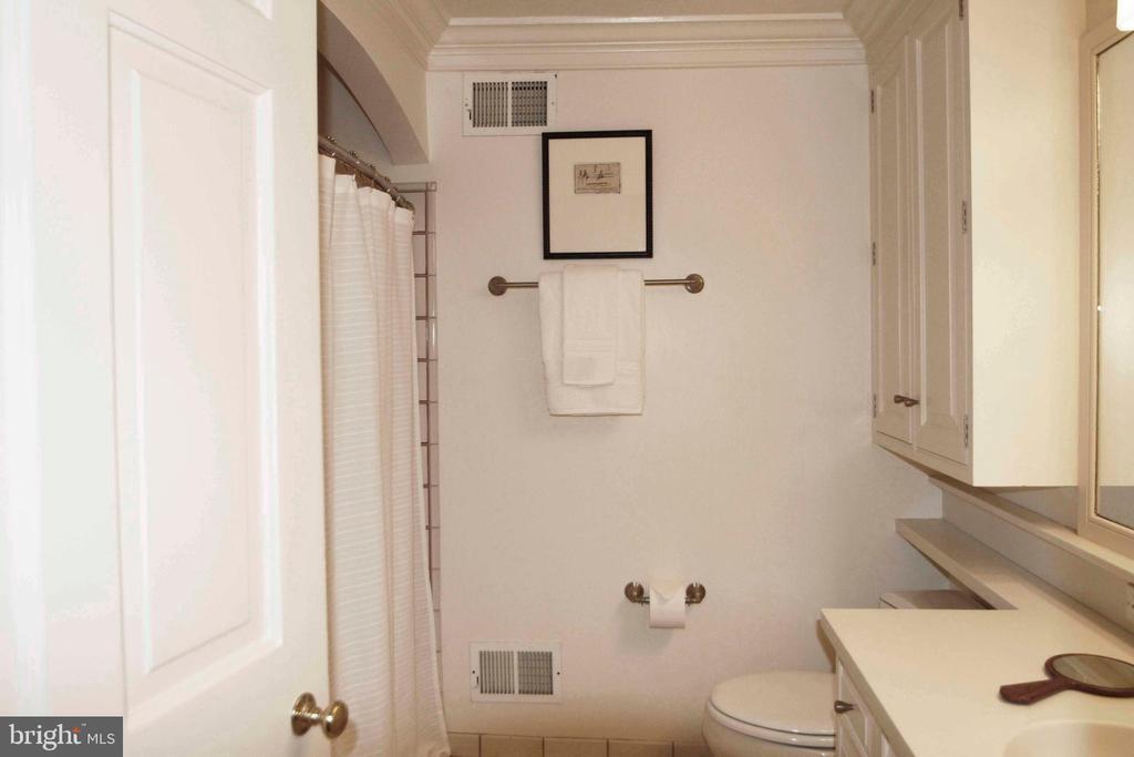Deep crown molding surrounds this bathroom - 639 S SAINT ASAPH ST, ALEXANDRIA