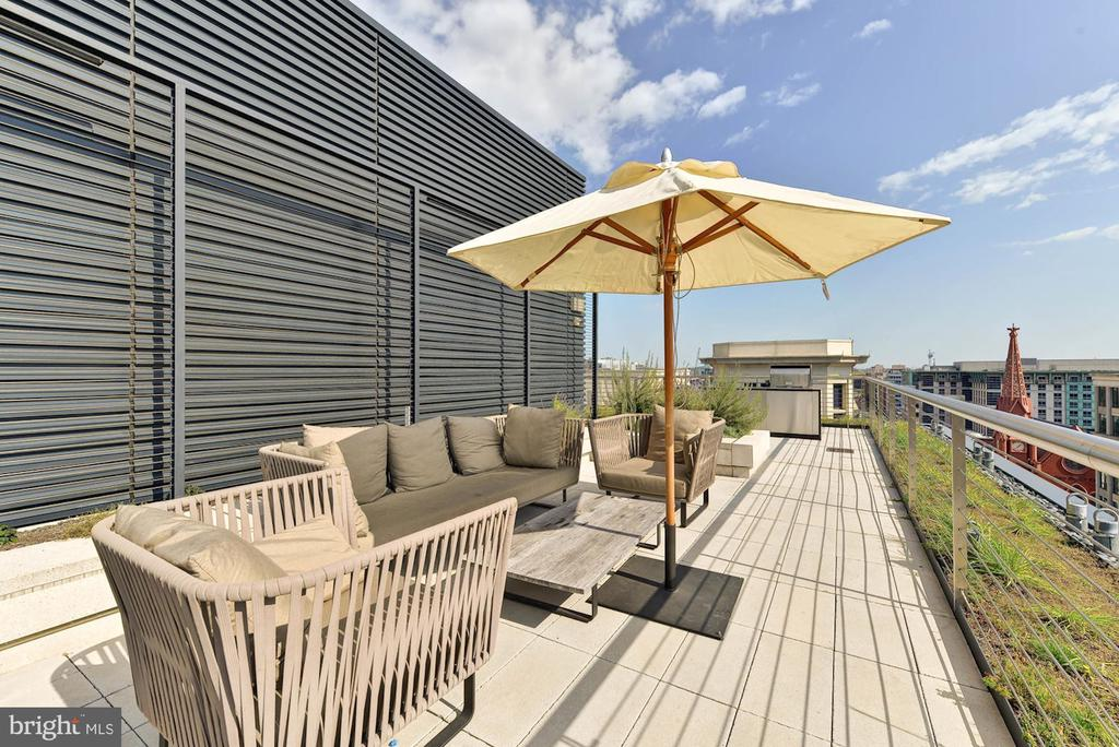 City Center Expansive Rooftop Terrace w/ Grill - 925 H ST NW #713, WASHINGTON