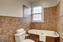 Full Hall Bath With Claw Foot Tub - 4310 18TH ST NW, WASHINGTON