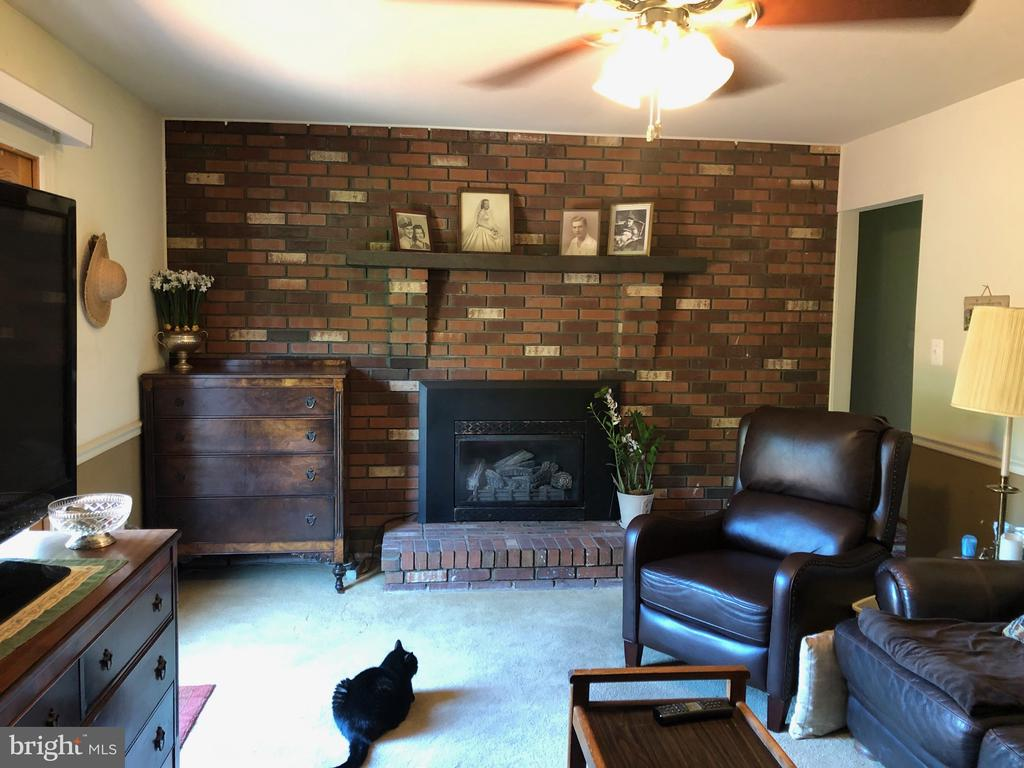 Family room with gas fire place. - 15020 ROLLING RIDGE RD, HAYMARKET
