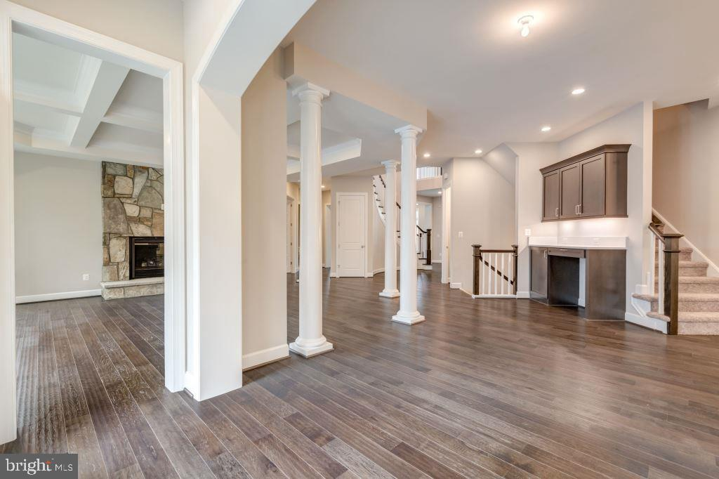 View from Kitchen, Stairs to Upper and Lower Level - 10710 HARLEY RD, LORTON
