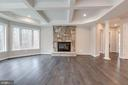 Family Room with Fireplace - 10710 HARLEY RD, LORTON