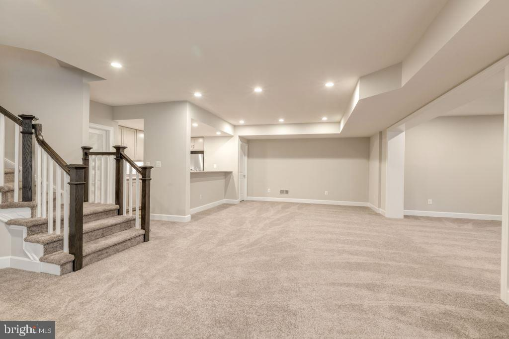 Stairs to Main Level, Game Room - 10710 HARLEY RD, LORTON