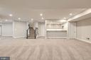 Stairs to Main Level, Wet Bar, Game Room - 10710 HARLEY RD, LORTON