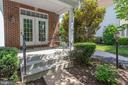 Private covered porch off main level study - 13890 LEWIS MILL WAY, CHANTILLY