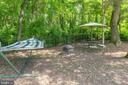 Serene back yard with fire pit - 13890 LEWIS MILL WAY, CHANTILLY