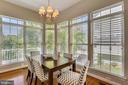 Breakfast room with two walls of windows - 206 ROSE PETAL WAY, ROCKVILLE