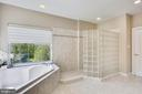 Designer tile flooring and wall surround - 206 ROSE PETAL WAY, ROCKVILLE