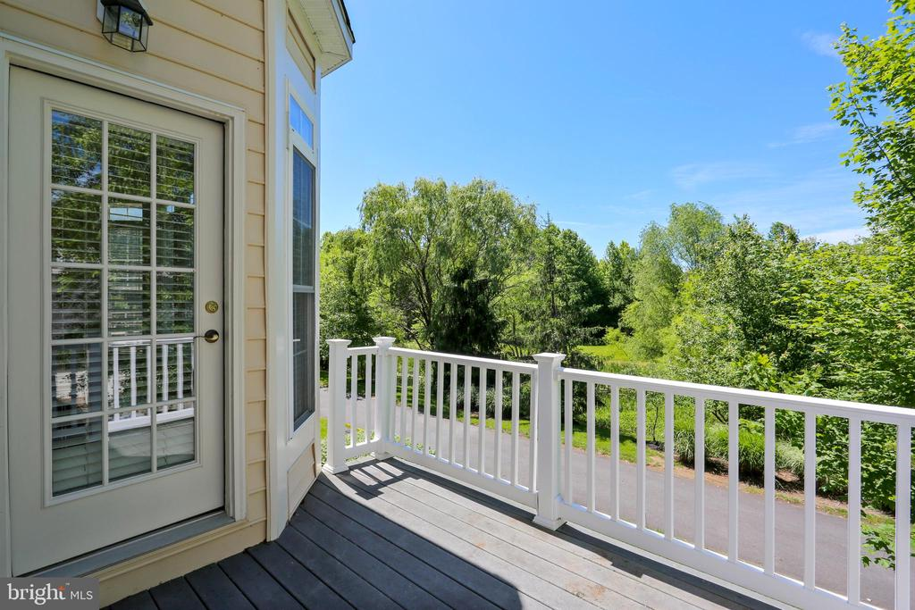 Deck overlooking pond and stream buffer - 206 ROSE PETAL WAY, ROCKVILLE
