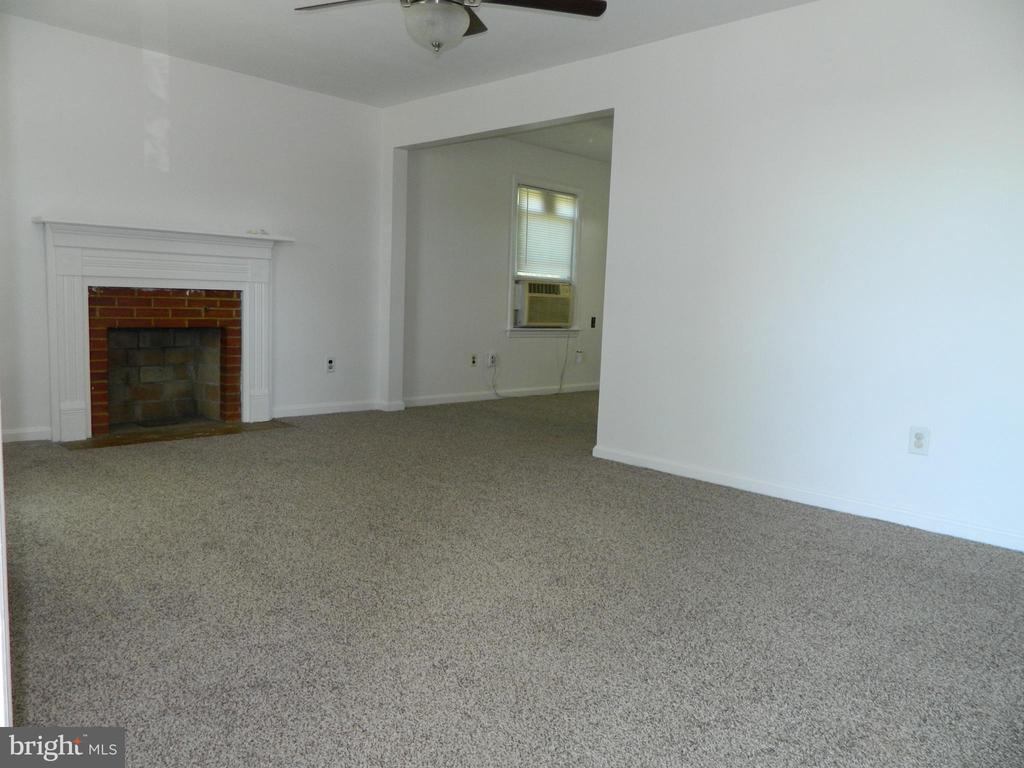 Living Room with Woodburning Fireplace - 117 POLK AVE, FRONT ROYAL