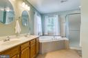 Master bath with Tub and separate shower - 9 SARRINGTON CT, STAFFORD
