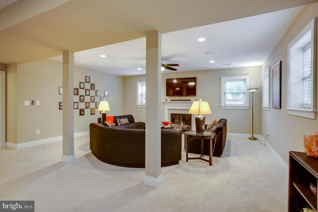 Basement Recreation Room w/ Gas Fire Place - 2020 S KENT ST, ARLINGTON