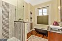 Full Bathroom with vintage claw foot tub - 118 E CHURCH ST, FREDERICK