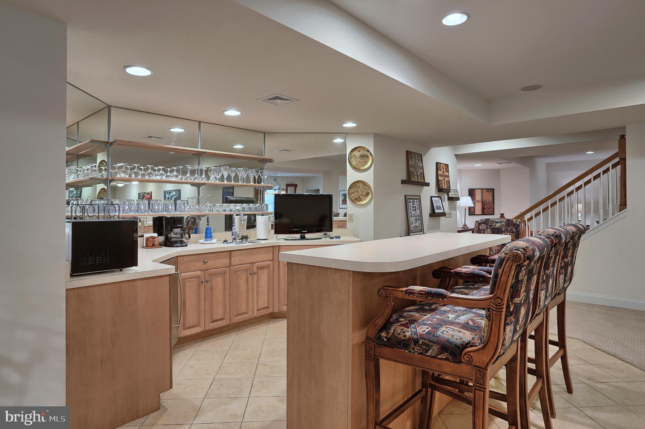 Party Time!  Lower level wet bar