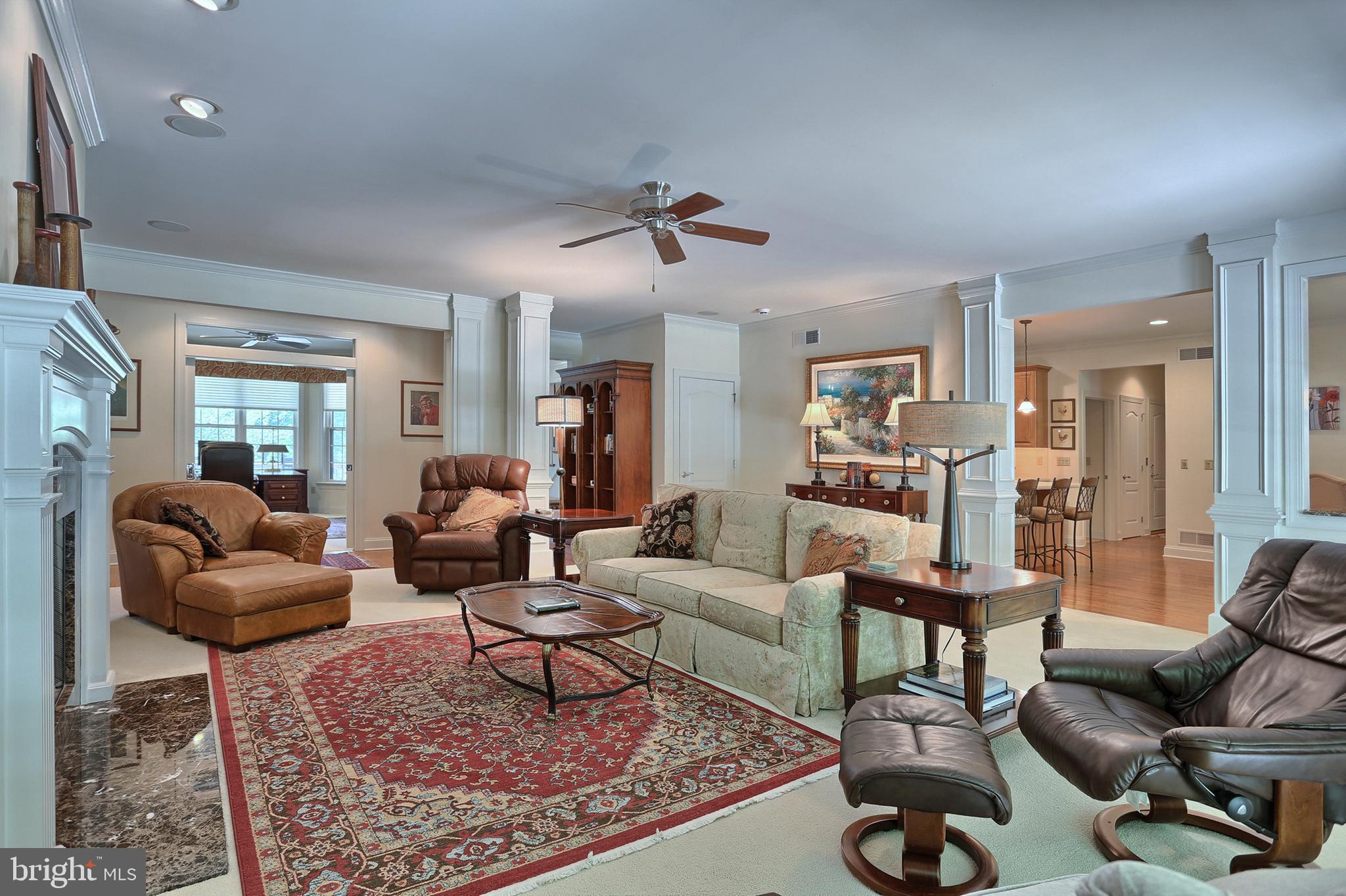 Living Room features open floor plan, built-ins