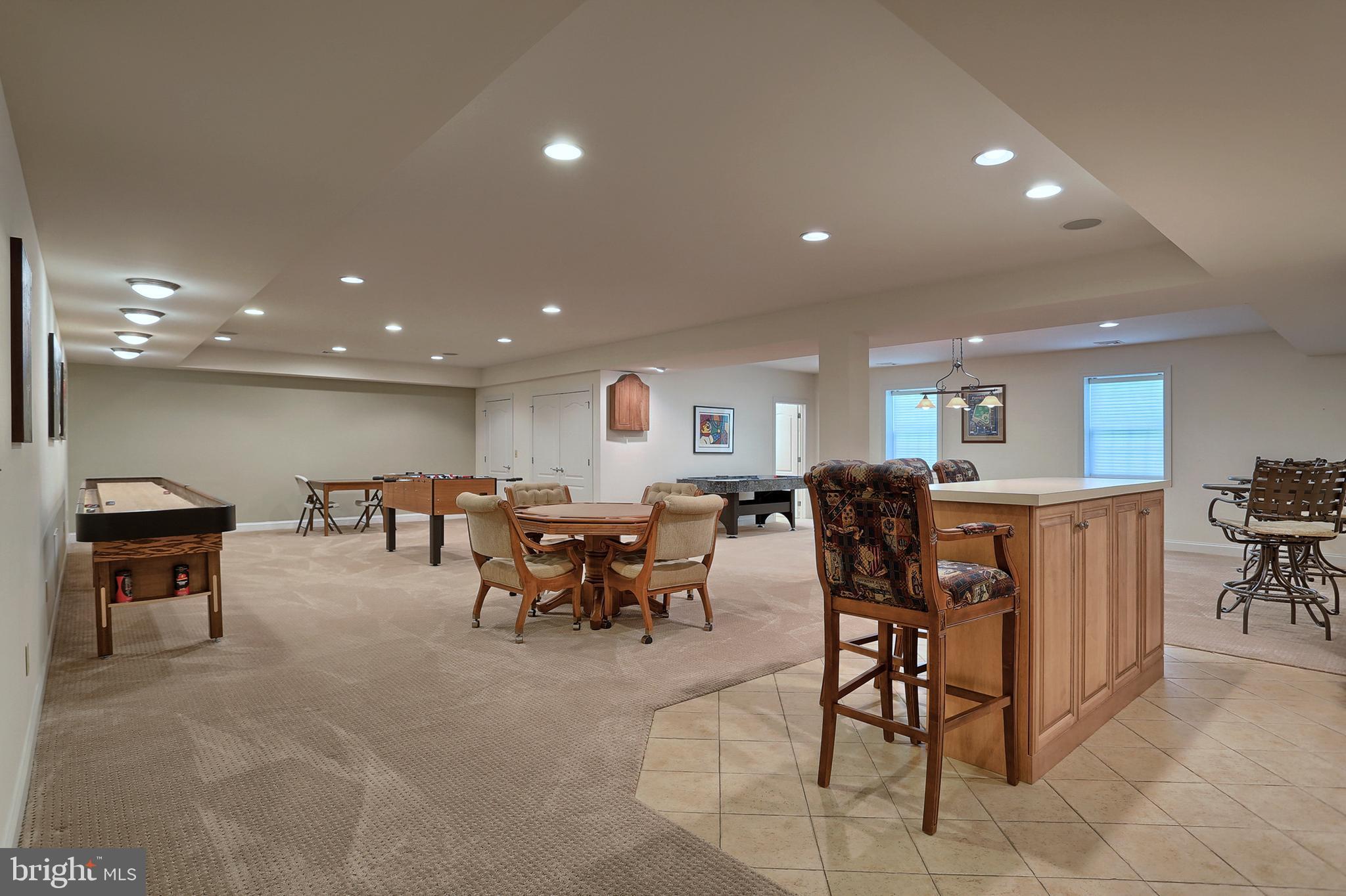 Lower level Bar & Game room
