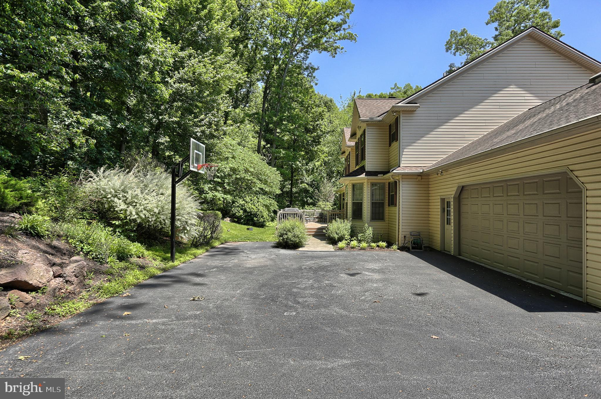 Driveway and garage entrance