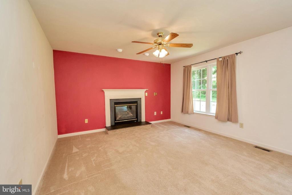Family Room with Gas Fireplace - 175 ROPER DR, BOWLING GREEN