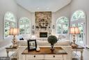2-story custom textured stonework & gas fireplace - 1298 STAMFORD WAY, RESTON