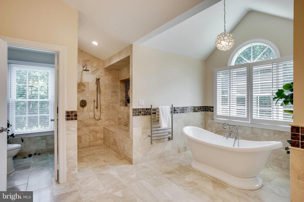 Roman shower & free standing soaking tub - 1298 STAMFORD WAY, RESTON