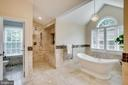 Roman shower & free standing soaking tub - 1298 STAMFORD WAY, RESTON