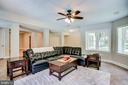 Expansive lower level recreation room - 1298 STAMFORD WAY, RESTON