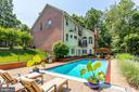 Sparkling pool & extensive hardscape - 1298 STAMFORD WAY, RESTON