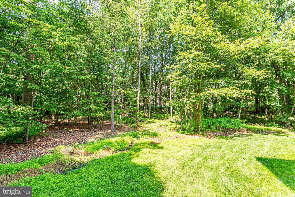 Rear exterior surrounded by mature trees - 1298 STAMFORD WAY, RESTON