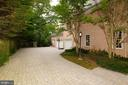Paver Driveway with Three-Car Garage - 916 MACKALL AVE, MCLEAN