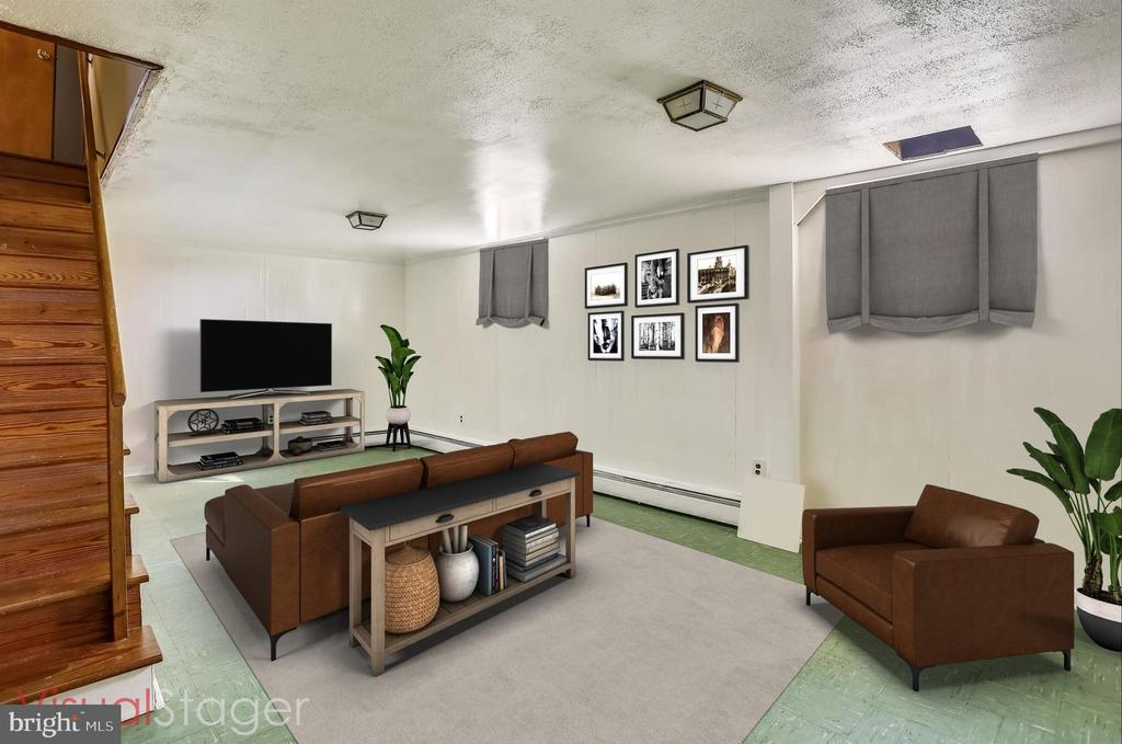LOWER LEVEL REC ROOM STAGED - 39085 IRISH CORNER RD, LOVETTSVILLE
