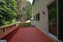 Deck off of the kitchen and family patio doors. - 8225 BAYBERRY RIDGE RD, FAIRFAX STATION