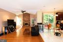 Family room opens up to eat-in kitchen area - 8225 BAYBERRY RIDGE RD, FAIRFAX STATION