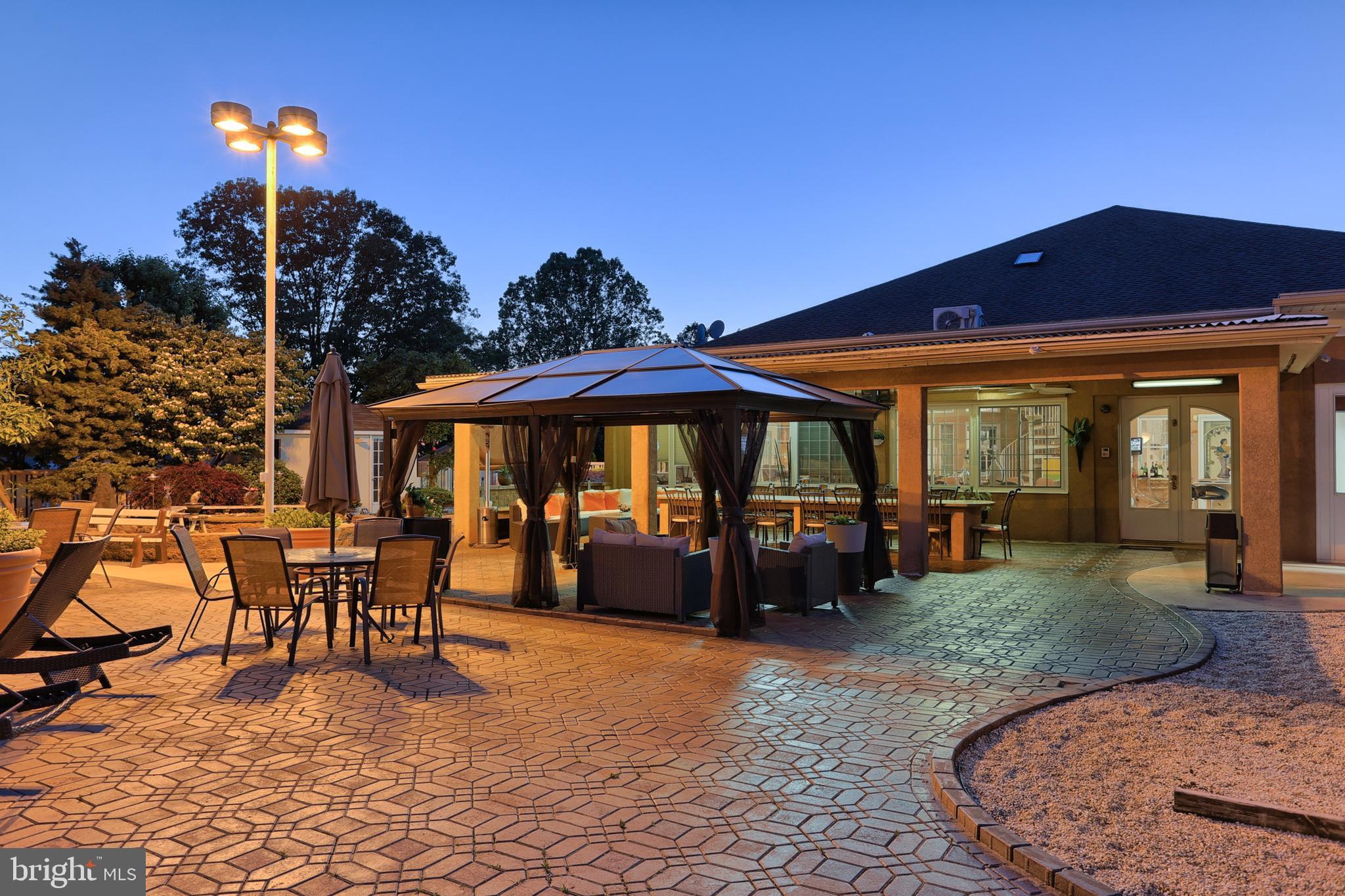 massive paver patio area