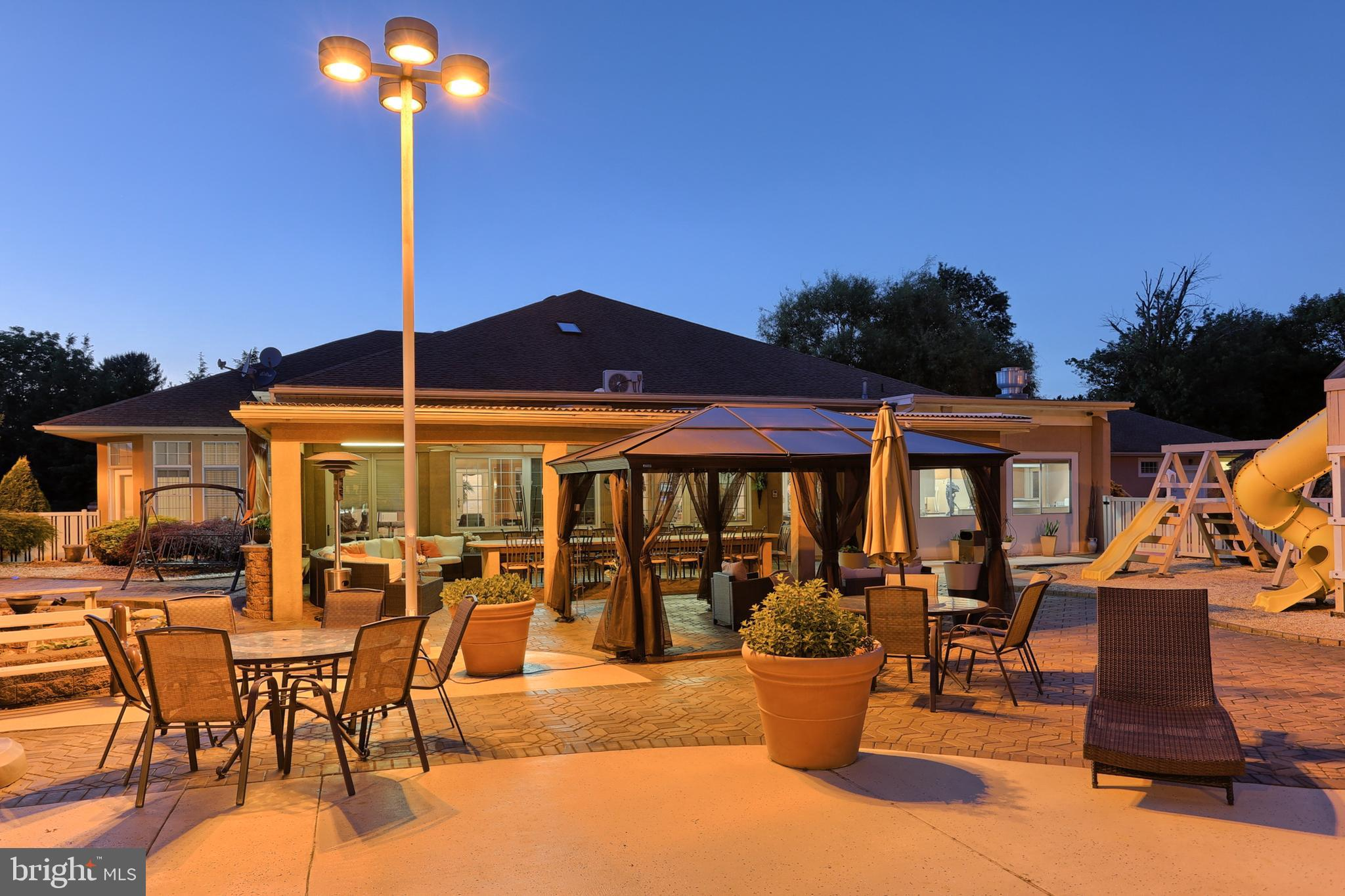 ample lighting for evening parties
