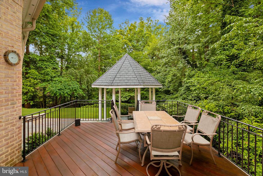 Backyard Deck - 916 MACKALL AVE, MCLEAN