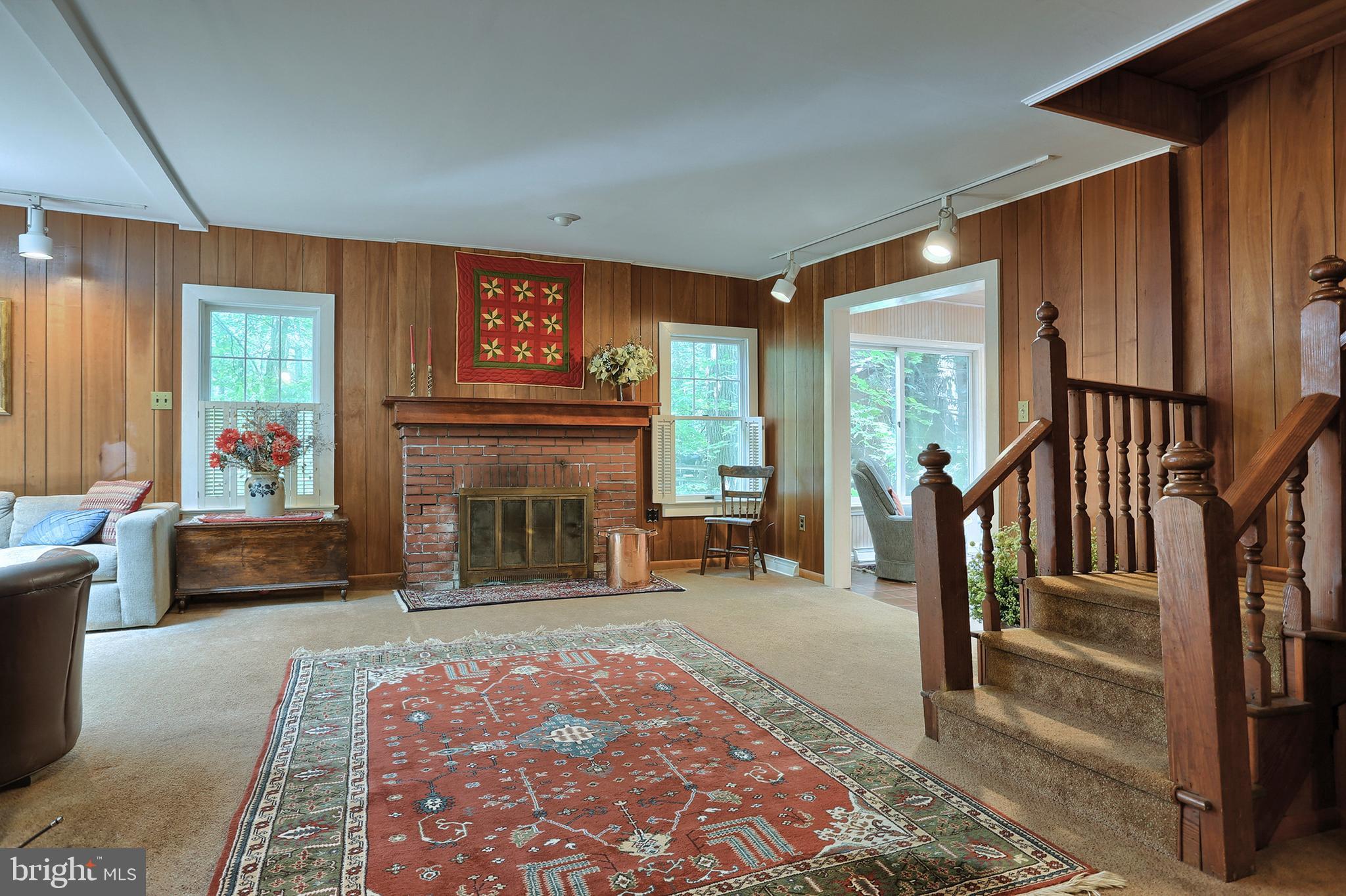 Open stairway toward living room