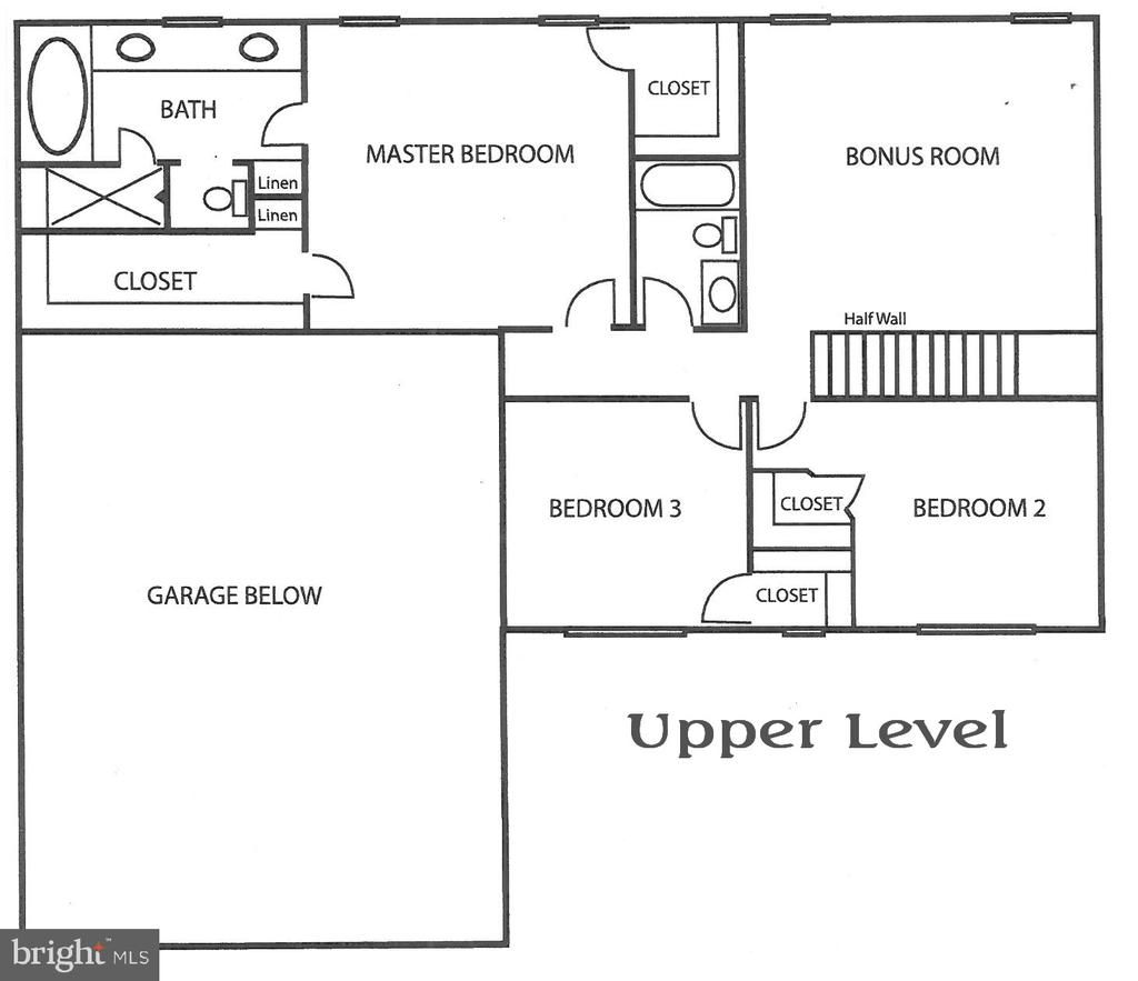 Upper Level Floor Plan with MBR and loft - 3 CLARA MAE COURT, ROUND HILL