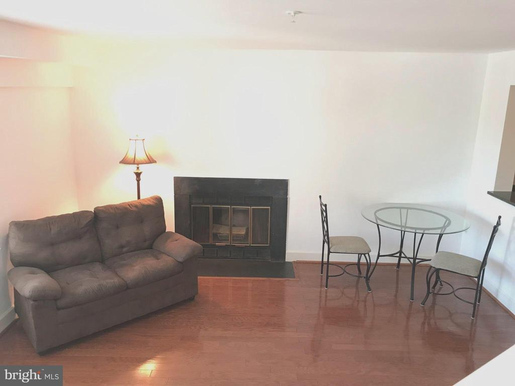 Fireplace in Living Room/ Dining Area - 3629 38TH ST NW #304, WASHINGTON
