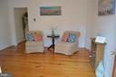 Gorgeous pine hardwood in living room! - 235 W 5TH ST, FREDERICK