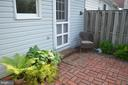 Relax on your back brick patio - 235 W 5TH ST, FREDERICK