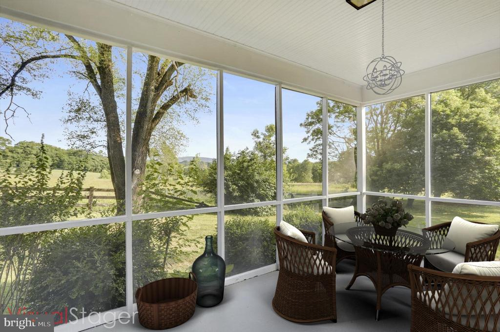 ONE OF TWO SCREENED IN PROCHES  - STAGED - 39085 IRISH CORNER RD, LOVETTSVILLE