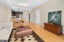 Living with view of dining and kitchen - 8220 CRESTWOOD HEIGHTS DR #514, MCLEAN