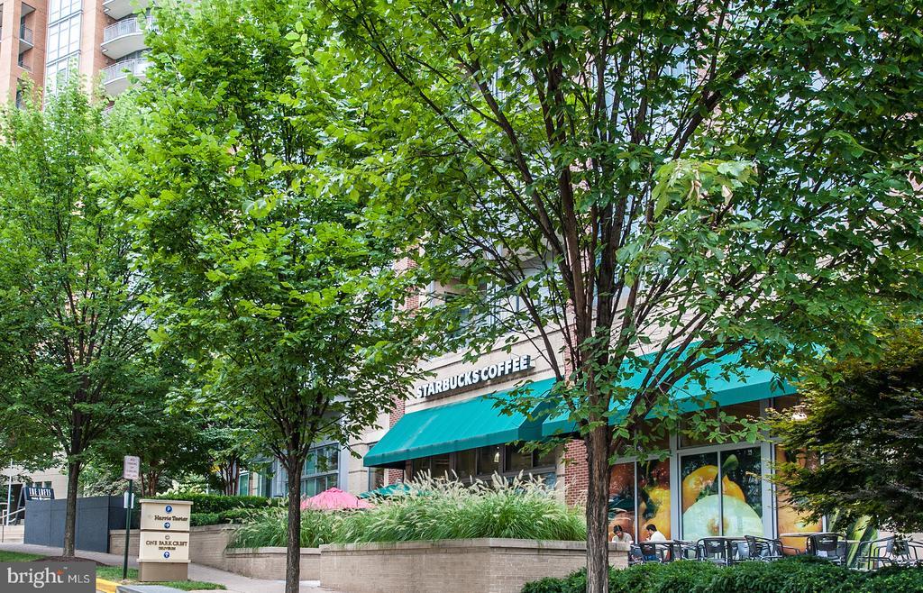 View of Starbucks next door - 8220 CRESTWOOD HEIGHTS DR #514, MCLEAN