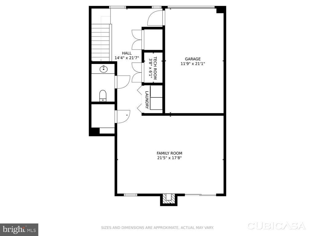 1st level floor plan - 2035 PIERIS CT, VIENNA