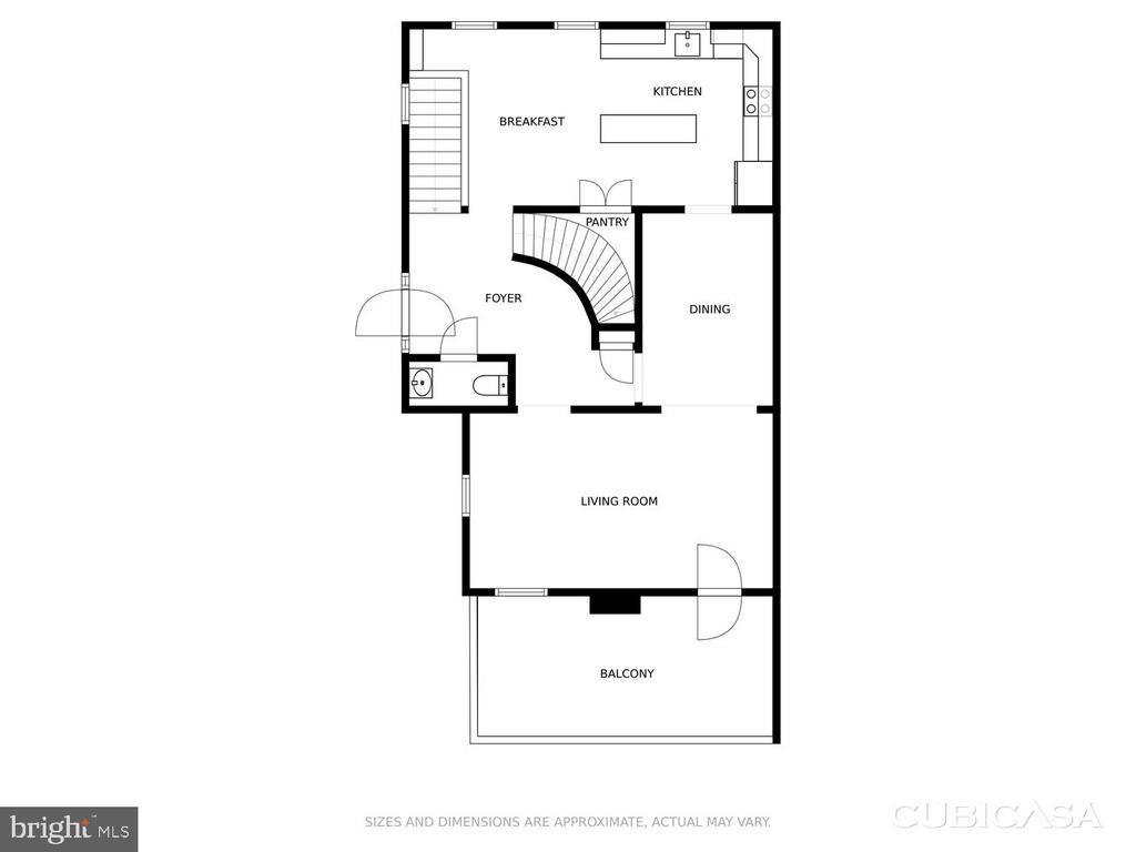 2nd level floor plan - 2035 PIERIS CT, VIENNA