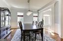 Formal Dining Room with Contemporary Lighting - 16323 HUNTER PL, LEESBURG