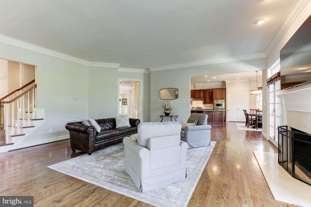 Family Room with Rear Staircase - 16323 HUNTER PL, LEESBURG