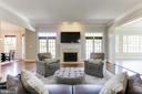 Family Room with Double French Doors - 16323 HUNTER PL, LEESBURG