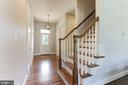 Rear Family Foyer with Powder Room and Staircase - 16323 HUNTER PL, LEESBURG